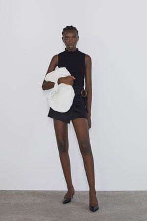 Zara Bermuda skorts with buckle