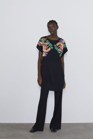 Zara Printed rubberised dress