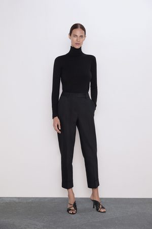 Zara Trousers with turn-up hems