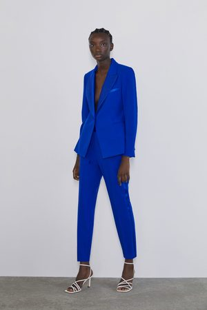 Zara Tuxedo trousers with side trim detail