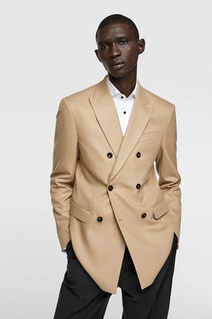 Zara Textured double-breasted blazer