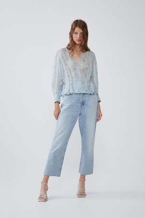 Zara Printed shirt with metallic thread