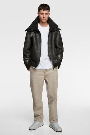 Zara Contrast double collar jacket
