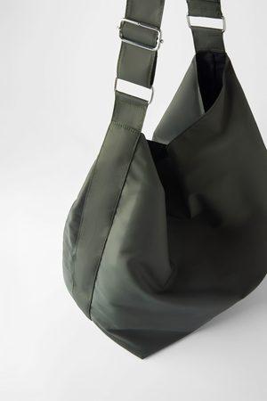 Zara Technical fabric xxl maxi bucket bag