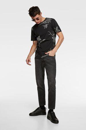 Zara Jacquard textured t-shirt