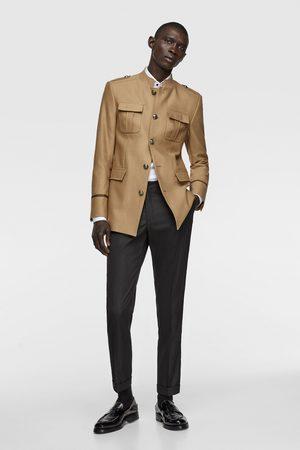 Zara Military-style jacket with pockets