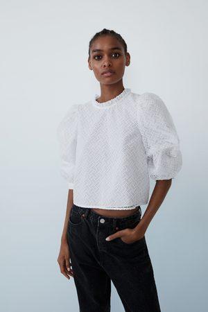 Zara Voluminous textured top
