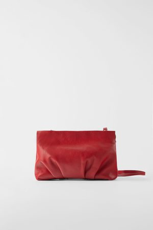 9d8978ce Ruched leather crossbody bag