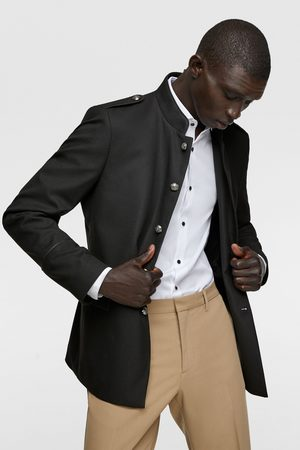 Zara Men Jackets - Textured military-style jacket with trims