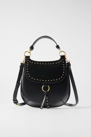 861f0c73df Studded equestrian crossbody bag