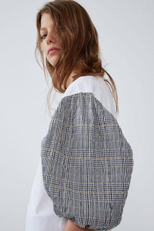 Zara Women T-shirts - Contrasting fabric t-shirt