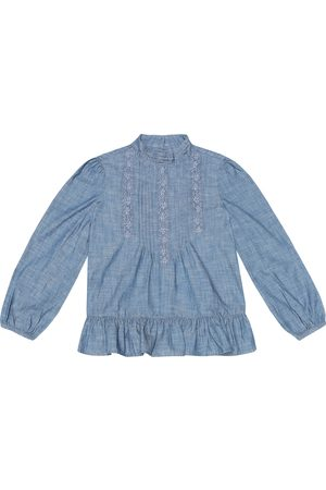 Ralph Lauren Cotton chambray blouse