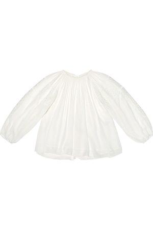 Chloé Plisse floral-lace top