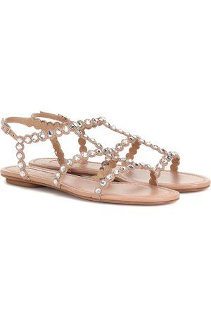 Aquazzura Tequila embellished leather sandals