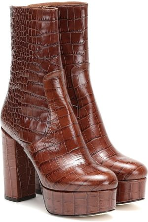 PARIS TEXAS Cocco leather ankle boots