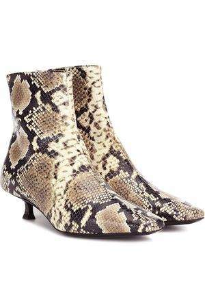 By Far Exclusive to Mytheresa – Laura snake-effect leather ankle boots