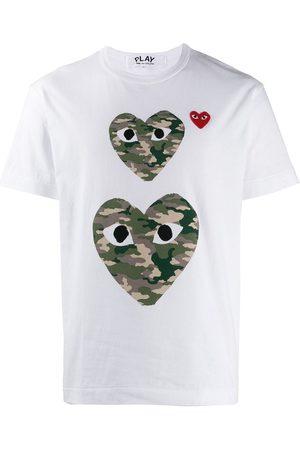 Comme des Garçons Camouflage heart T-shirt