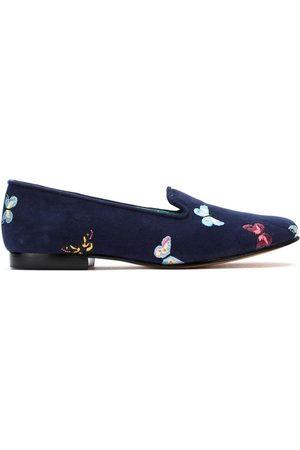 Blue Bird Suede Borboletas slippers
