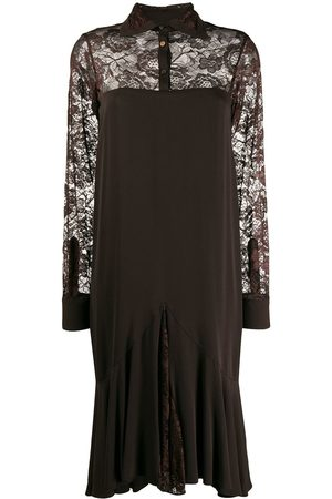 ROMEO GIGLI 1997 lace panels long sleeved dress