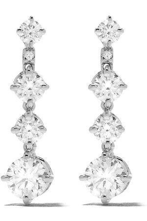 De Beers 18kt Arpeggia one-line diamond earrings