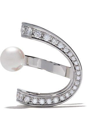 Tasaki Women Earrings - 18kt Aurora Akoya pearl and diamond ear clip