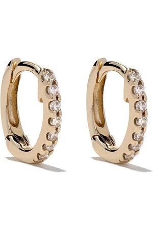 Dana Rebecca 14kt mini huggie diamond earrings