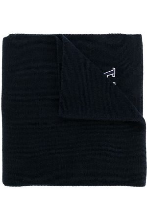 Emporio Armani Boys Scarves - Logo knitted scarf