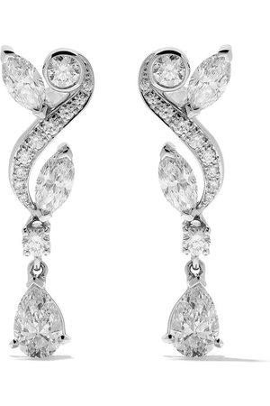 De Beers 18kt Adonis Rose diamond pendant earrings