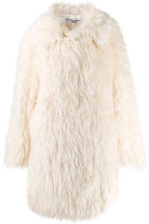 KATHARINE HAMNETT LONDON Samantha long shaggy coat