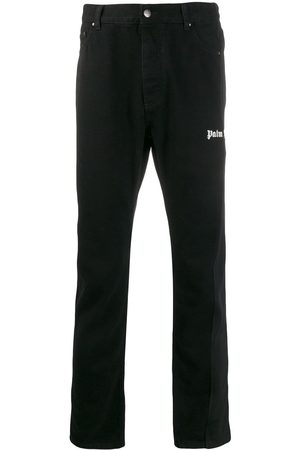 Palm Angels Branded straight jeans