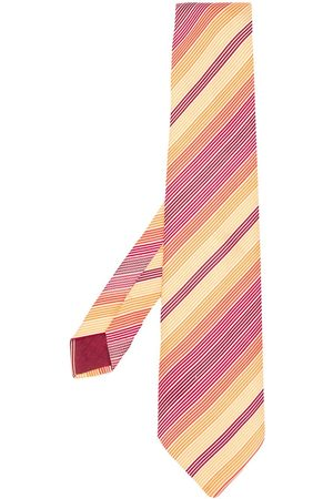 Hermès 2000's embroidered diagonal stripes tie