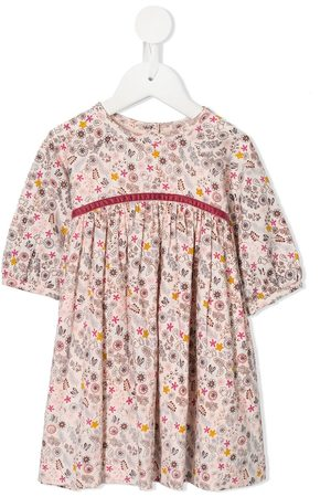 Velveteen Paloma floral print dress