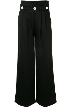 Comme Moi Women Palazzo Pants - Button-embellished trousers