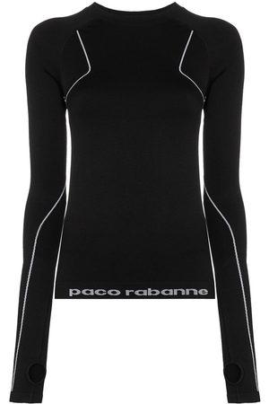 Paco Rabanne Logo print running top