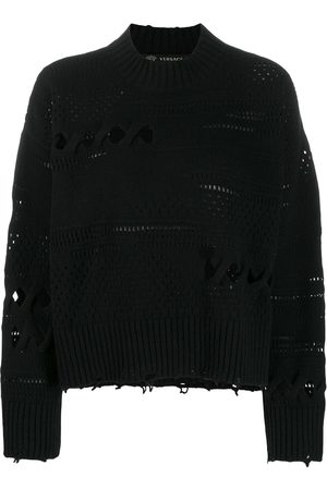 VERSACE Distressed knitted sweater