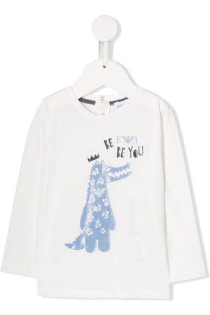 Emporio Armani Crocodile print long-sleeved T-shirt
