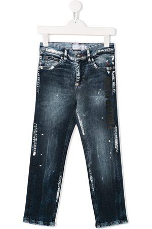 Philipp Plein Paint splatter jeans