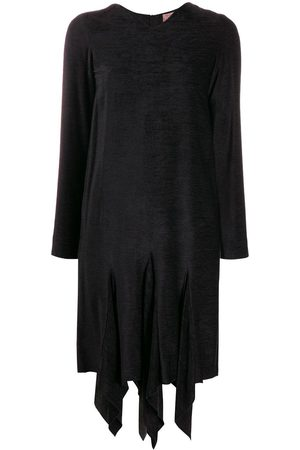 ROMEO GIGLI 1990's textured asymmetric dress