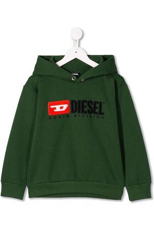 Diesel Boys Sweatshirts - Hooded logo sweatshirt