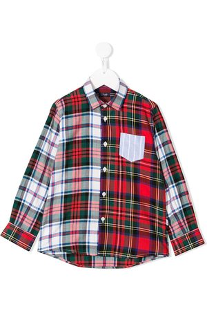 Il gufo Contrasting checked shirt