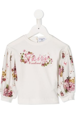MONNALISA Flower print long-sleeved top