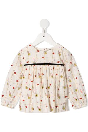 Velveteen Antonia Poppies print blouse