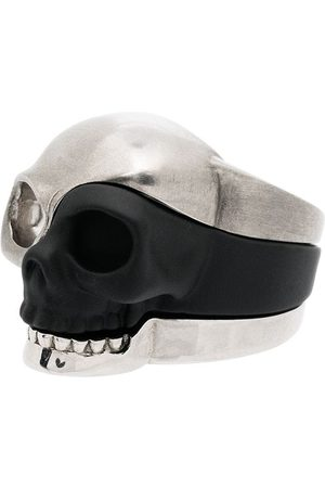 Alexander McQueen Three-piece Skull motif ring