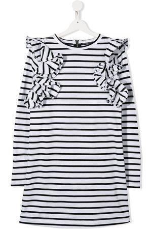 Balmain Girls Casual Dresses - TEEN striped ruffle dress