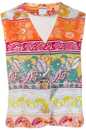 Moschino 1990's floral print vest