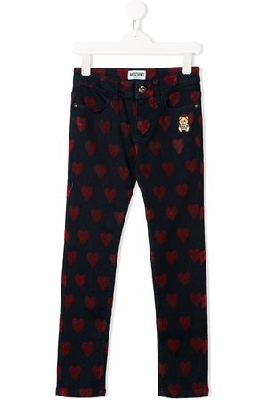 Moschino Heart pattern jeans