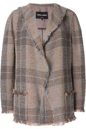 Armani Plaid fitted blazer