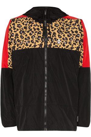 MARCELO BURLON Men Jackets - Leopard-print windbreaker jacket