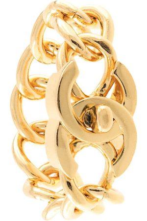 CHANEL CC Turnlock Motif Chain Bracelet