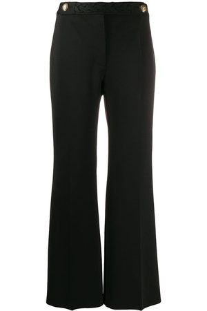 Givenchy Braid cropped flared trousers